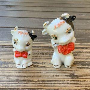 Vintage Japan rare anthropomorphic cow figures